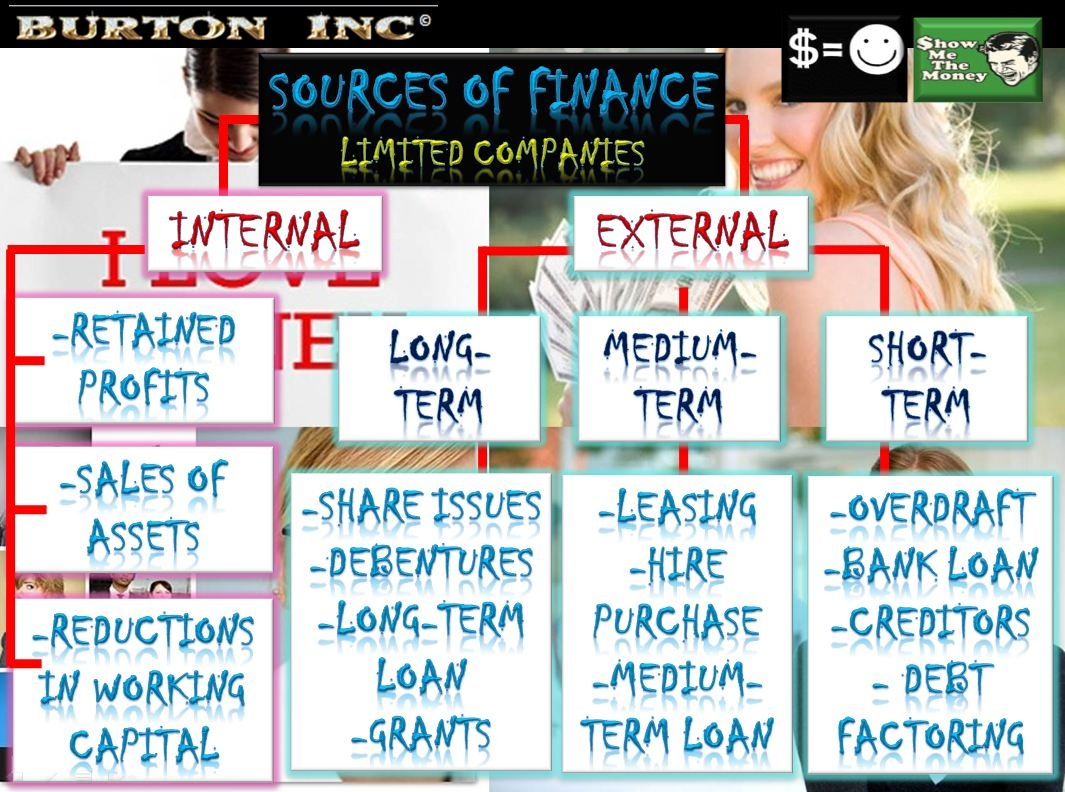 the differences between internal and external sources of business finance finance essay External vs internal consultants finance, organisation efficiency or give preference to internal over external consultants.